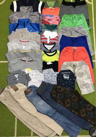 Пакет вещей на мальчика регланы футболки брюки 122-128