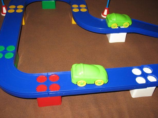 Конструктор Юни-блок Автотрек, дорога для автомобилей. Игрушка