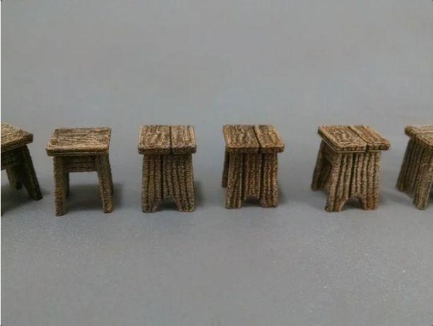 Krzesła barowe makieta wh fantasy teren do gry bitewne LOTR