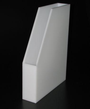 Caixa arquivadora em acrílico branco 5cm / 10cm
