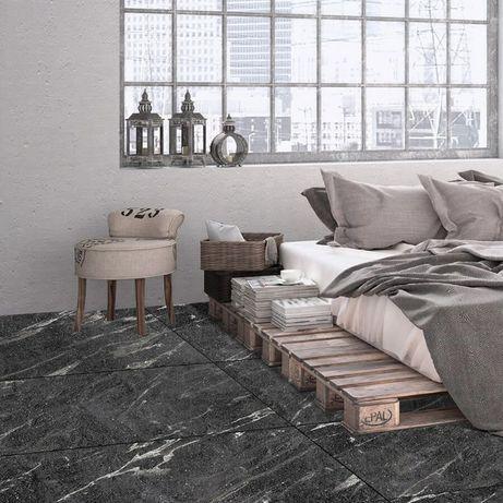 Płytki Gresowe podłogowe Tokyo Black matowy 120x60x1 cm