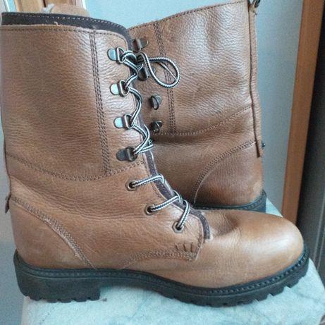 Trapery męskie skórzane Lumberjack 28 buty górskie botki workery