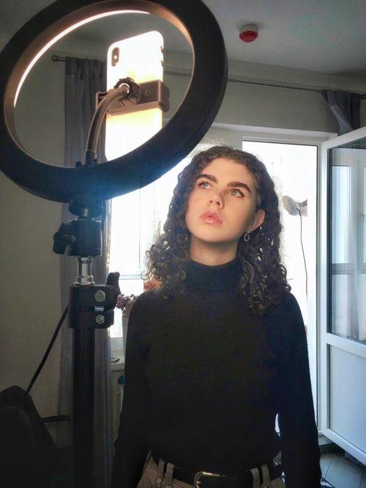 Кольцевая лампа 26 см + штатив 2 метра +держатель для телефона Киев - изображение 1