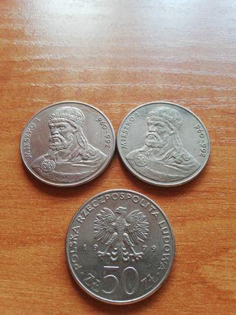 Moneta 50 złotych Mieszko I (3sztuki)