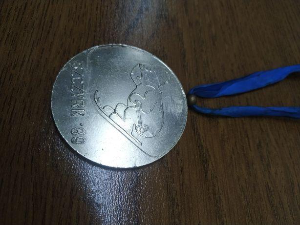 Stary medal Szczyrk 89 mistrzostwa Polski w konkurencjach alpejskich