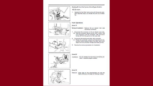Wózek widłowy TOYOTA 6FG10 i 6fg30 instrukcja napraw