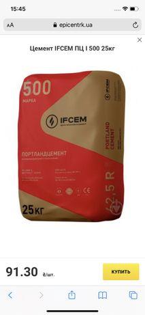Цемент IFCEM ПЦ I 500 25кг портландцемент
