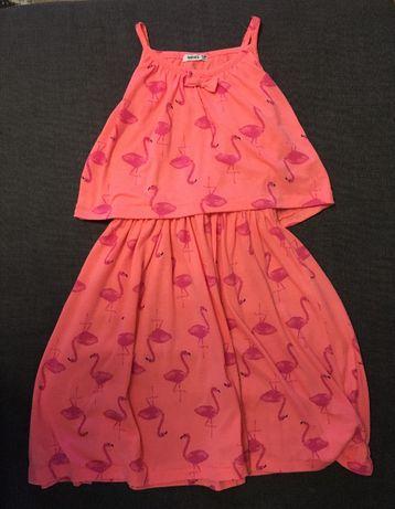 Letnia sukienka flamingi Heatons 9-10 lat