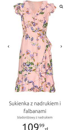 zwiewna sukienka bonprix rozmiar 40