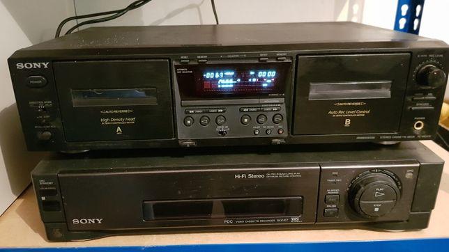 Magnetofon Deck + magnetowid Sony