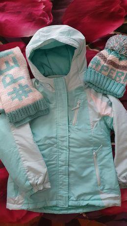 Куртка Children Place с флисовой кофтой +шапка и шарф в подарок