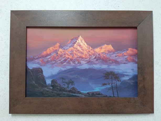 """Картина """"Закат в Гималаях"""""""