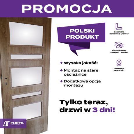 Solidne drzwi wewnętrzne drzwi pokojowe dostępne od ręki Promocja!