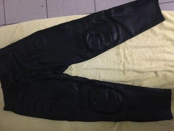 Motocyklowe  spodnie Skorzane!  Grube ,motor skuter