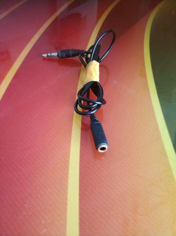 Kabel, przewód, przedłużacz, jack, do słuchawek, przedłużka dżak
