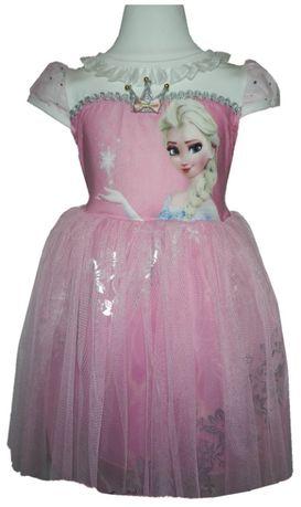 Платье для девочки с Эльзой, с волшебной палочкой и короной