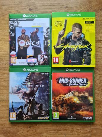 Gry Xbox Ufc 4/Cyberpunk 2077/Monster Hunter World/Mud Runner