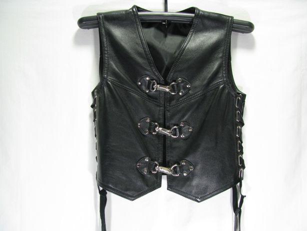Женский кожаный жилет