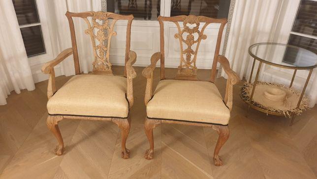 Krzesła fotele eklektyczne po renowacji