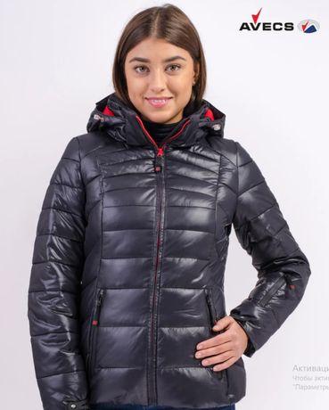 Зимняя куртка женская Avecs черный размер 46