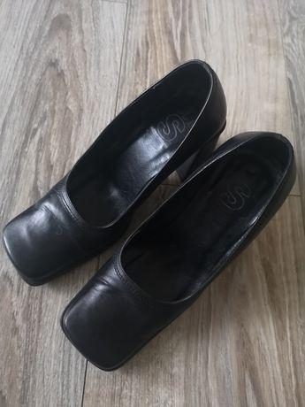 Buty Skóra naturalna rozmiar 36 czarne