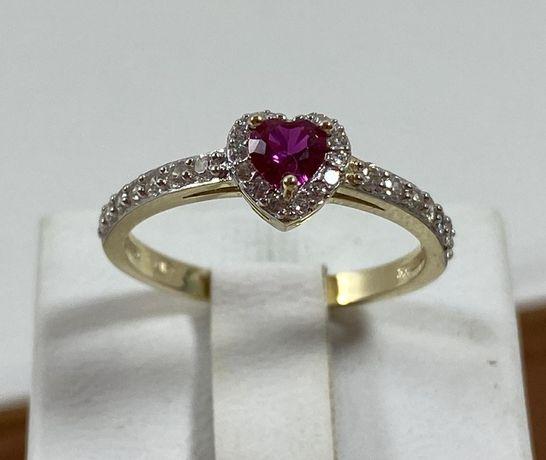 NOWY piękny złoty pierścionek 1,73g / 333 / r. 13