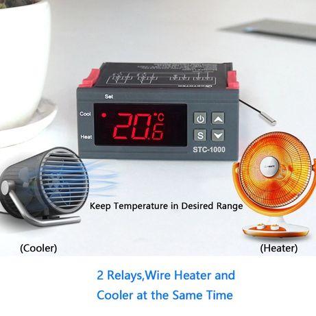 Termostato STC-1000 digital 2 relés 0.1ºC (decimal) 220V ou 12V
