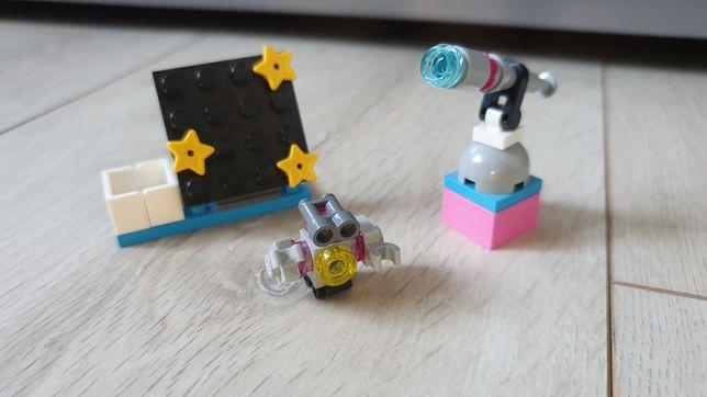 Klocki LEGO friends, obserwatorium Olivii, teleskop, robot, saszetka