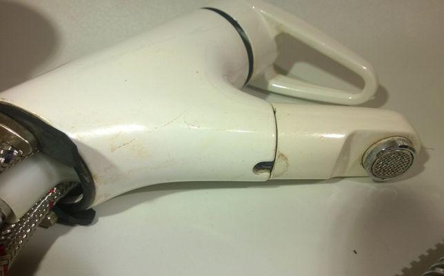 bateria umywalkowa biała