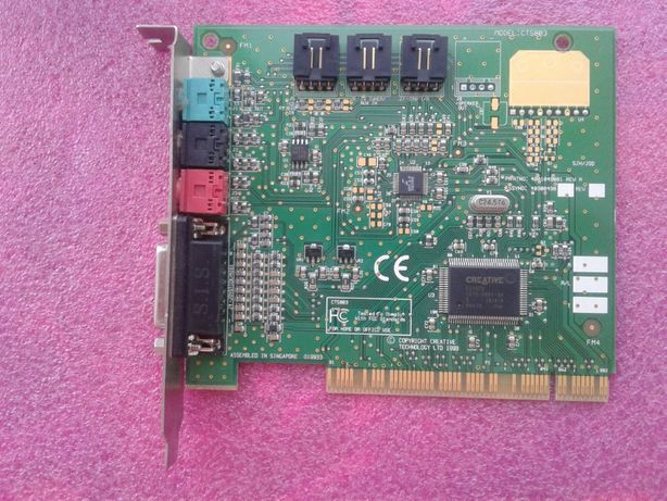 Звуковая карта Creative CT5803 — Creative Sound Blaster 128 PCI 3D