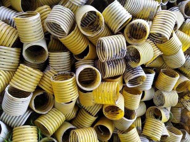 Doniczki z rury drenacyjnej , peszla fi 50, sadzonki , rozsada