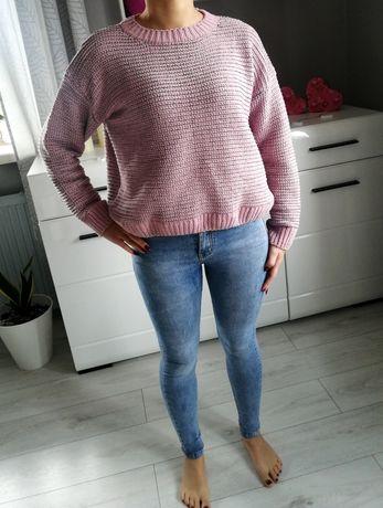 Sweterek pudrowy róż rozmiar M