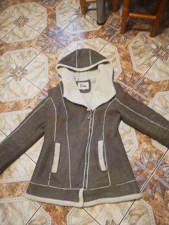 Płaszcz futerko kurtka zimowa