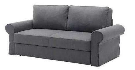 Ikea BACKABRO sofa 3 osobowa ciemno szara rozkladana