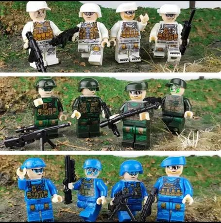 Wyprzedaż figurki klocki do Lego policja wojsko swat 12 sztuk