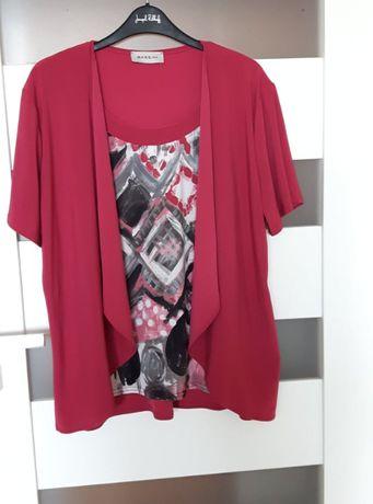 Bluzka tunika wyjątkowa Fuksja/ciemny róż r.46/48 elegancja