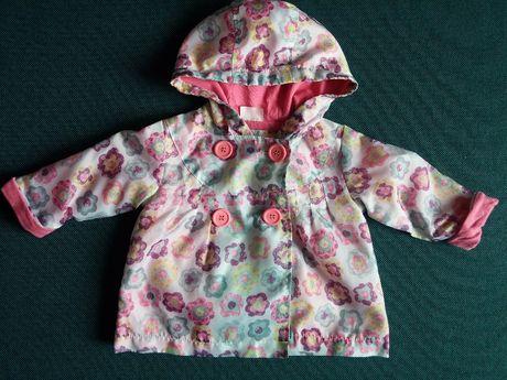 jak nowa kurtka wiosenna płaszczyk dla dziewczynki rozm. 62 68