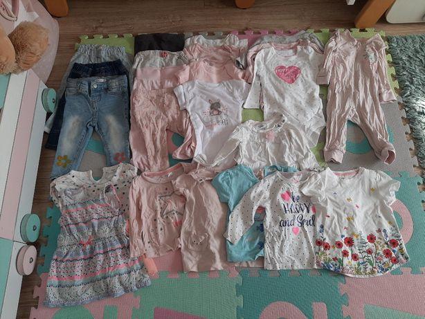 Paczka, zestaw, ubrań dla dziewczynki, rozmiar 74 cm, ubranka