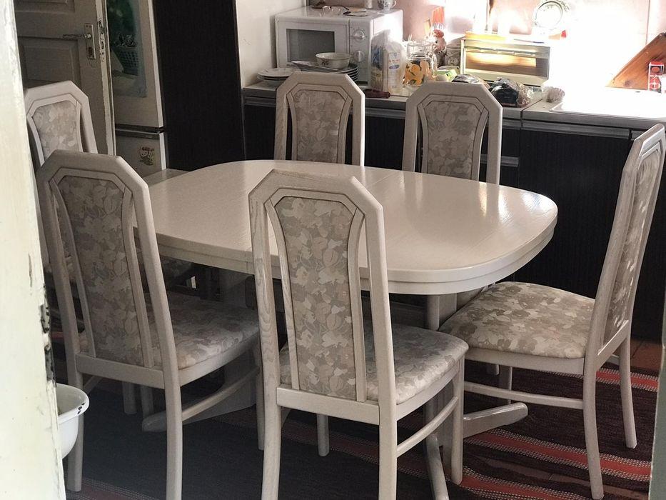 стол стулья стіл 6 крісел дуб Борислав - изображение 1