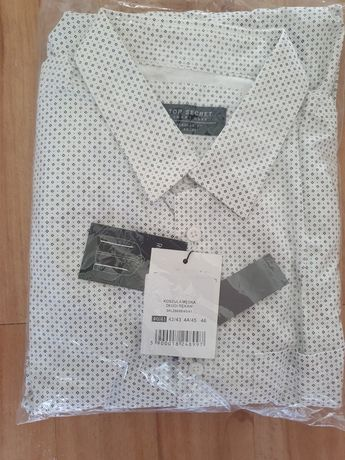 Koszula TOP SECRET elegancka Regular Fit 40/41 długi rękaw męska NOWA