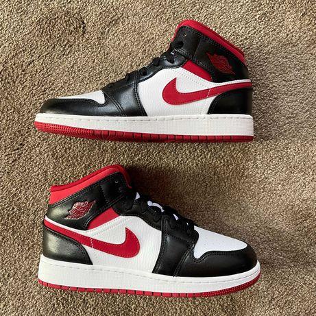 Jordan 1 Mid Gym Red Black White 38.5/39/40