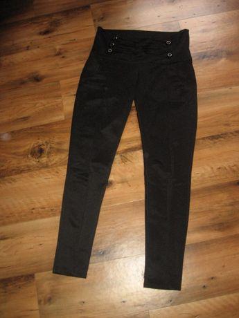 czarne spodnie wysoki stan rozm s