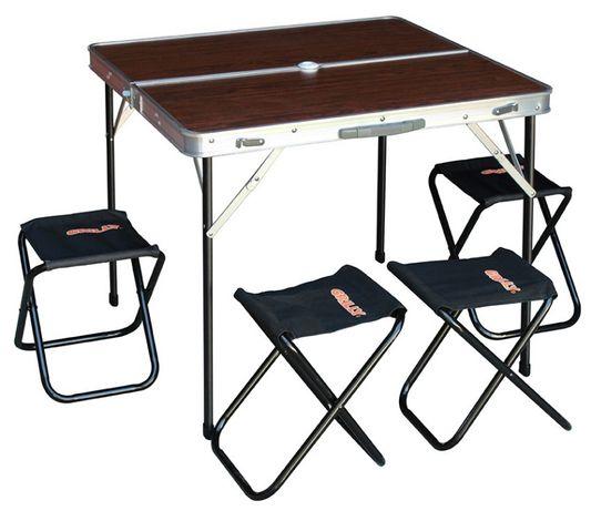Стол раскладной туристический + 4 стульчика
