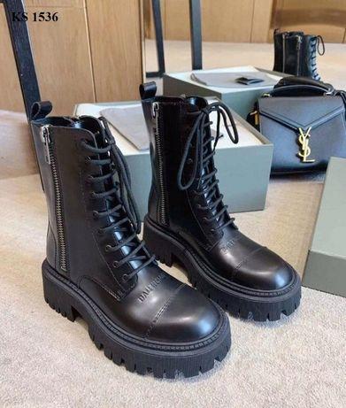 Ботинки женские Balenciaga (матовые)! Артикул: KS 1536