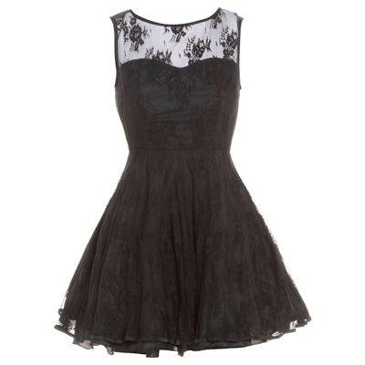 Пышное короткое чёрное платье фатин кружево открытая спина AX Paris