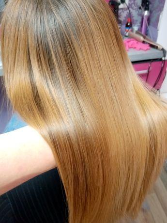 Кератиновое выпрямление/Ботокс волос