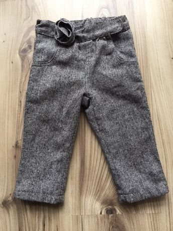 Spodnie ocieplane dla dziewczyni 74