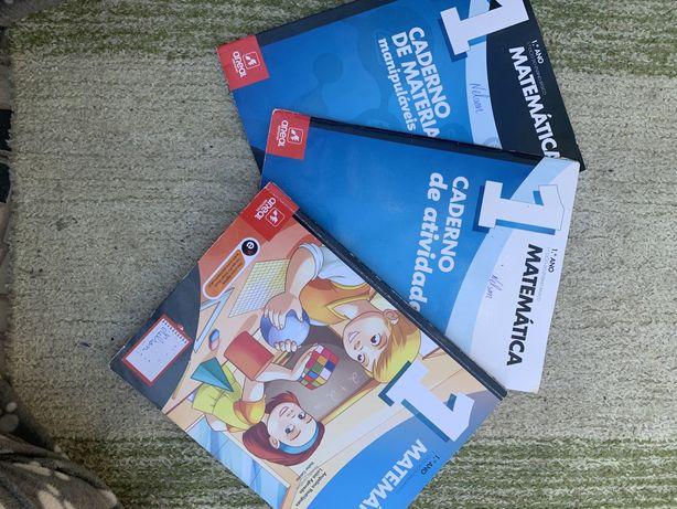 Livros escolares de Matemática 1ºano