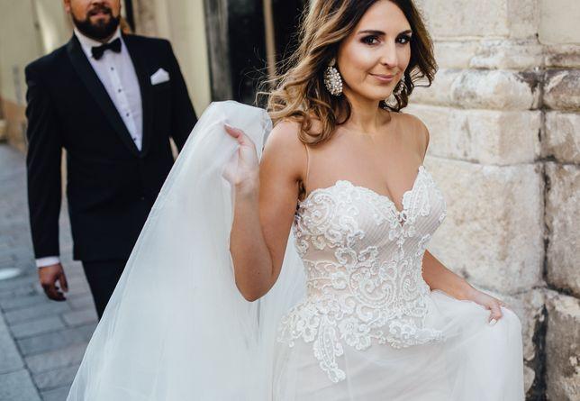 suknia ślubna 2w1 glamour
