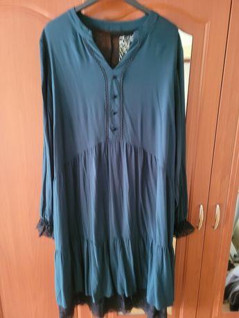 Sukienka r.44 blue shadow butelkowa zieleń